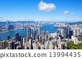 hong kong city day 13994435