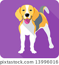 dog icon flat design 13996016