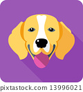 dog icon flat design 13996021