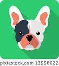 dog icon flat design 13996022