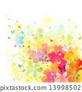 背景 開花 花卉 13998502