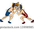 Greco-Roman Wrestling Grappling 13998985