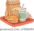 Fast Food Tray 13998989