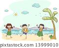 Stickman Hawaiian Kids 13999010