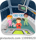 Stickman Kids Spaceship Control Room 13999020