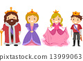 Stickman Kids Royal Family Costume 13999063