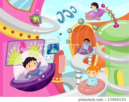 Stickman Kids Future City 13999150