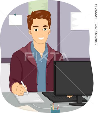 Male Graphic Designer 13999213