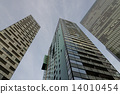 High modern buildings of glass and steel 14010454
