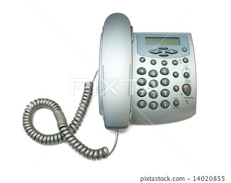 Silver modern telephone 14020855