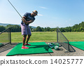 Golf Practice at the Driving Range 14025777