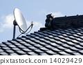 瓦屋頂和BS天線 14029429