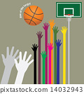aim basketball to target 14032943