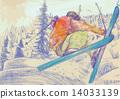 trick skiing 14033139