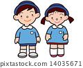 uniform, younger, kindergartener 14035671