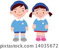 uniform, younger, kindergartener 14035672