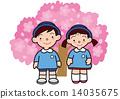uniform, cherry blossom, child 14035675