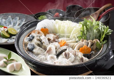 煮河豚 河豚魚生魚片 河豚 14036921