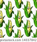成熟的 玉米 無縫的 14037842
