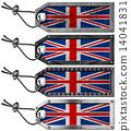 UK Flags Set of Grunge Metal Tags 14041831