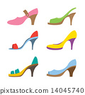Set Of Colorful High Heels Shoes. 14045740