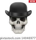 skull, bowler, hat 14046977