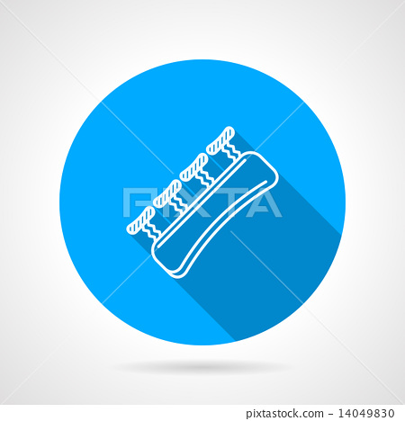 Round blue vector icon for gripping finger 14049830