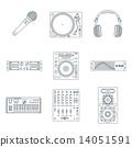 turntable, vinyl, microphone 14051591