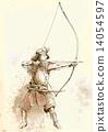 kyudo - an hand drawn vector 14054597