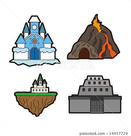 판타지 일러스트   던전 얼음 성 · 화산 · 빈 성 · 요새 14057729