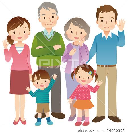 3代家庭6人全身 14060395