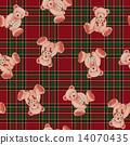 귀여운 곰 무늬 14070435