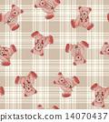 귀여운 곰 무늬 14070437