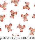 귀여운 곰 무늬 14070438