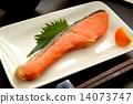 烤魚 鮭魚 三文魚 14073747