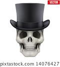 cylinder, skull, hat 14076427