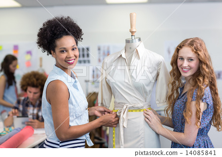 Female fashion designers at work 14085841