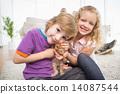 cat, boy, girl 14087544