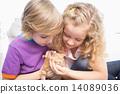 cat, boy, girl 14089036