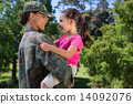 Soldier reunited with her daughter 14092076