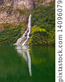 峡湾 瀑布 挪威 14096079
