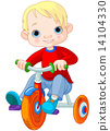 Boy on tricycle 14104330