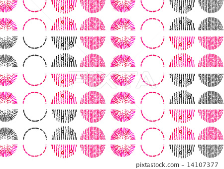 Zentangle, pattern, polka dot Dot water polka drawn, watercolor, pink peach, white, white back, circle, visual, continuous, art, relax, relaxation, ...