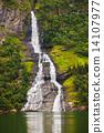 峡湾 瀑布 挪威 14107977