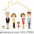 三代家庭家庭形象 14117683