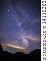 银河 七夕 夜空 14119283