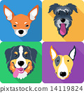 dog icon flat design  14119824