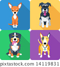dog icon flat design  14119831