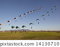 Compilation of Skydivers approaching for landing 14130710