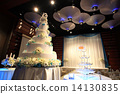 Wedding cake reception party 14130835